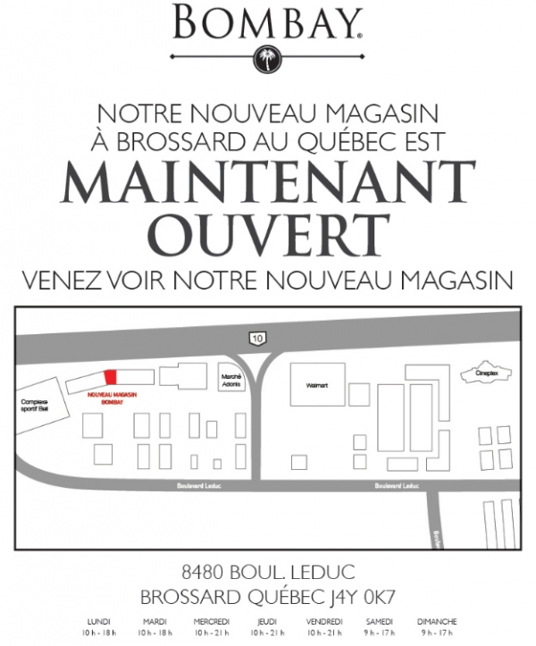 Notre Magasin à Brossard Au Québec Est Maintenant Ouvert Promotions Rabais