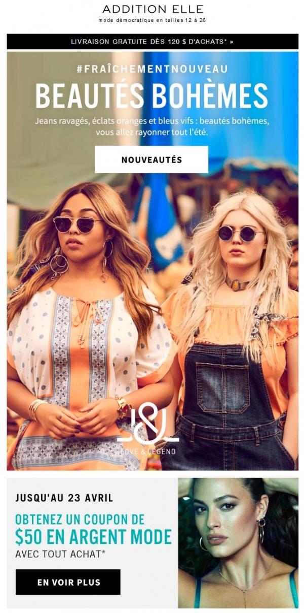 Nouveautés: En Mode Beauté Bohème Promotions Rabais