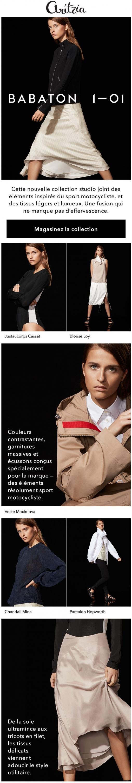 Nouvel Arrivage : La Capsule Tout Luxe De 1—01 Babaton Promotions Rabais