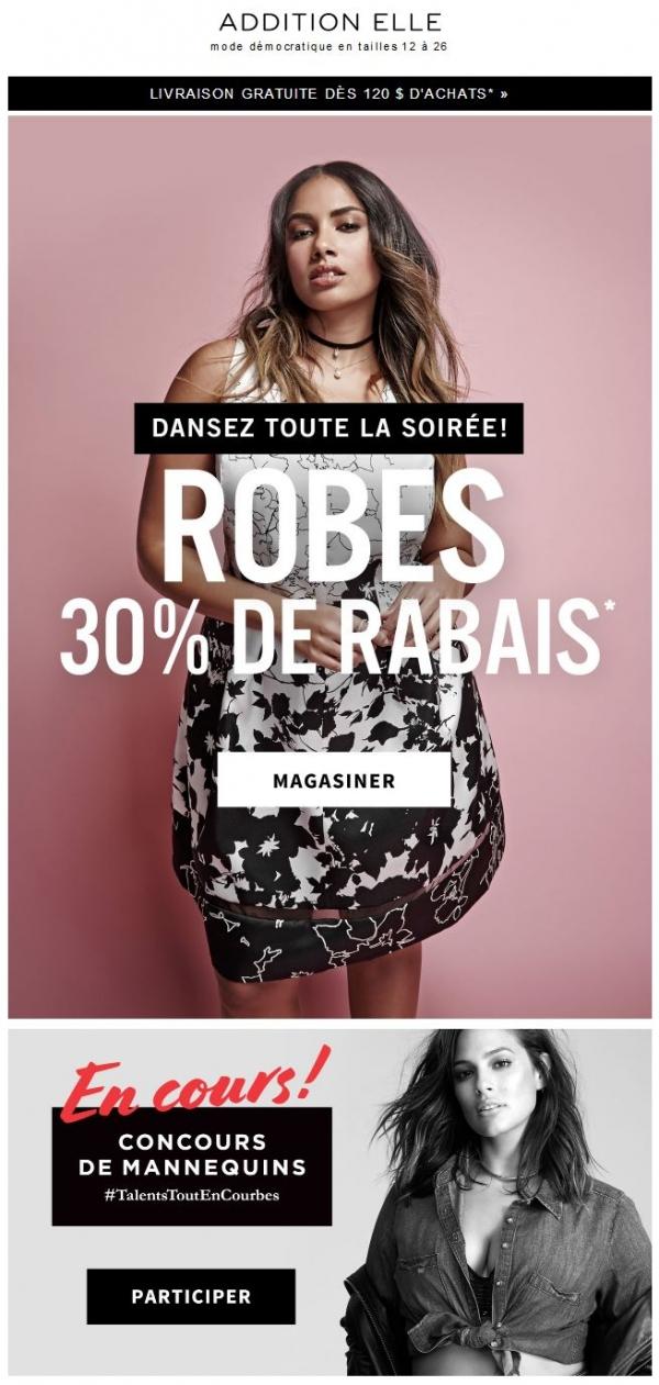 Prête Pour La Fête? Robes à 30 % De Rabais Promotions Rabais