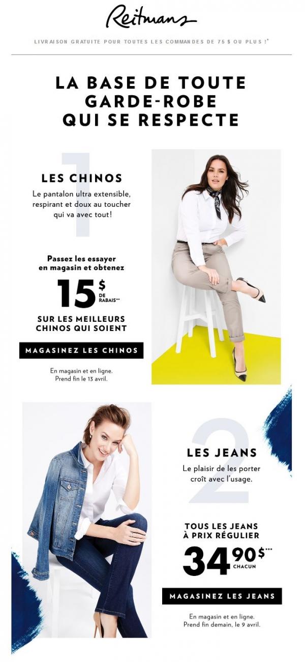 Psst! Les Chinos Et Les Jeans Sont En Promo. Promotions Rabais