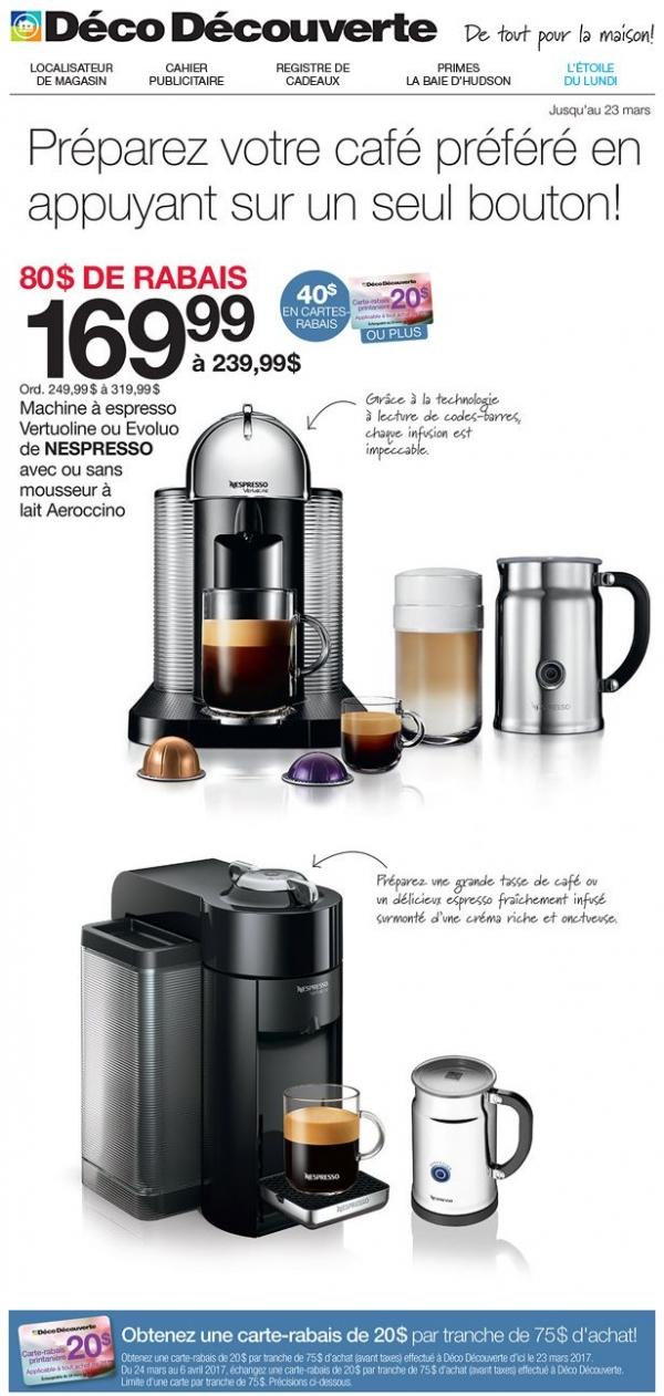 Solde Nespresso! Promotions Rabais