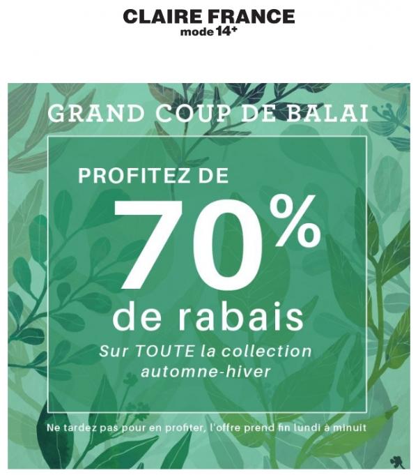Tout Doit Partir! 70% Sur Toute La Collection Automne Hiver! Promotions Rabais