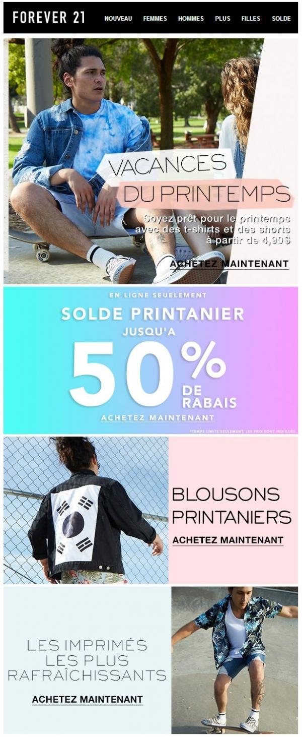 Vacances Du Printemps Promotions Rabais