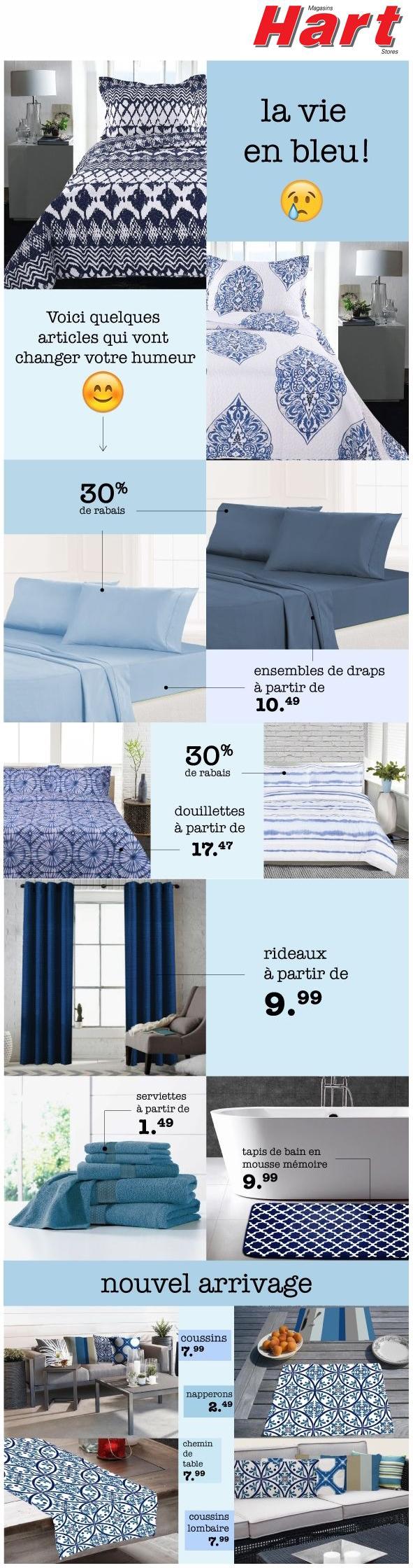 Vous Vivez Les Bleus? 30% De Rabais Et Nouvel Arrivage Promotions Rabais