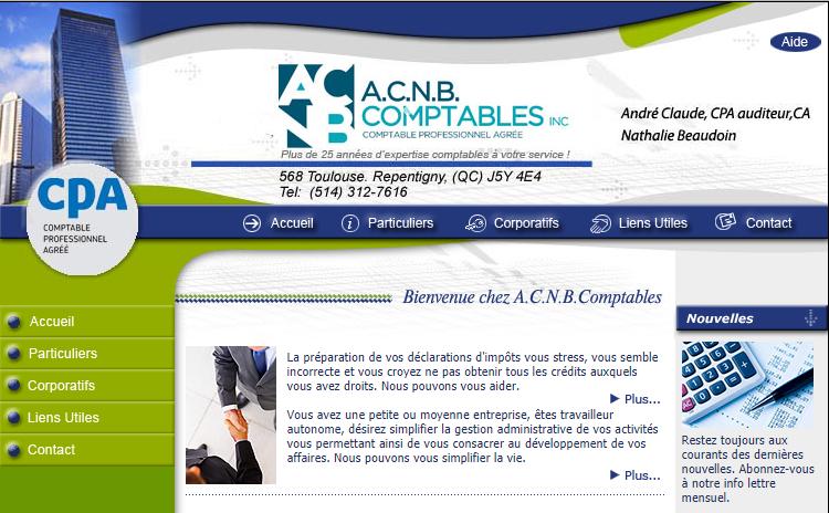 A.c.n.b. Comptables Inc. En Ligne