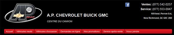 Ap Chevrolet Buick Gmc En Ligne