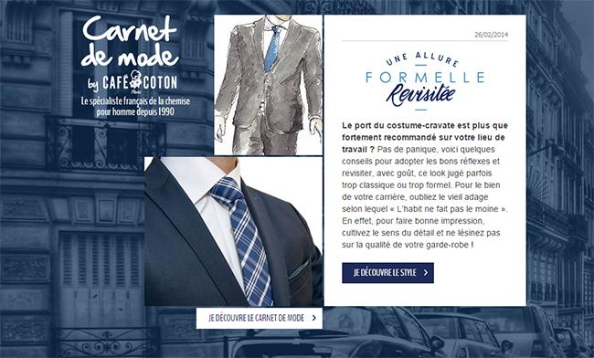 Café Coton Costume Cravate Chemise
