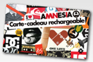Carte Cadeau Amnesia