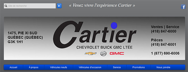 Cartier Chevrolet Buick Gmc En Ligne