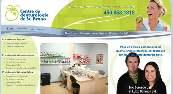 Centre De Denturologie De St Bruno En Ligne