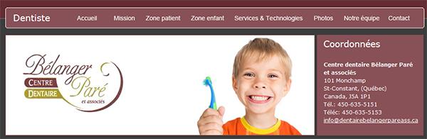 Centre Dentaire Bélanger Paré Et Associés En Ligne