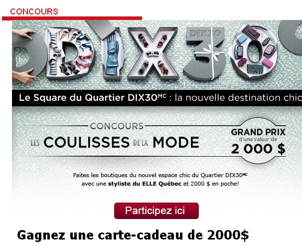 Concours Elle Quebec Quartier Dix30 Tirage 27 Mars 2013