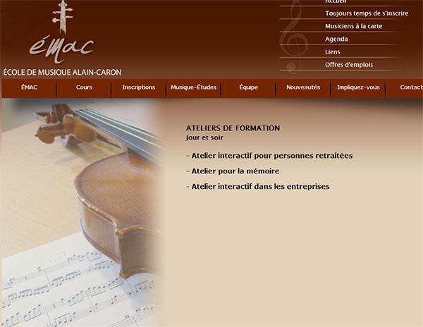 école De Musique Alain Caron En Ligne
