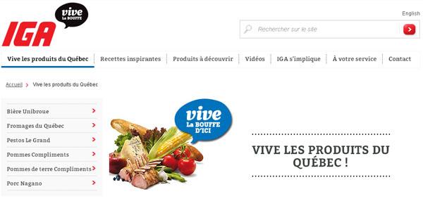 Iga Vive La Bouffe Du Quebec