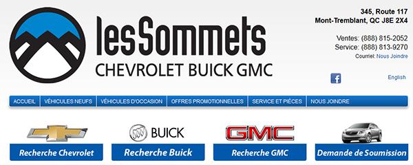 Les Sommets Chevrolet, Buick, Gmc En Ligne