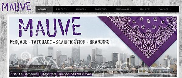 Mauve Perçage Tatouage Scarification Branding