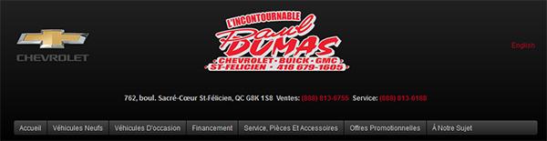 Paul Dumas Chevrolet Buick Gmc En Ligne