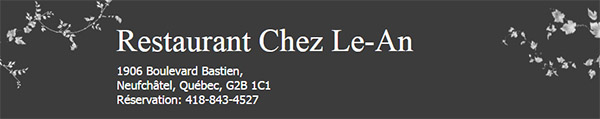Restaurant Chez Le An En Ligne