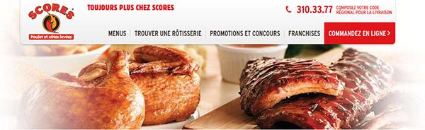Rotisseries Scores Poulet Côtes Levée