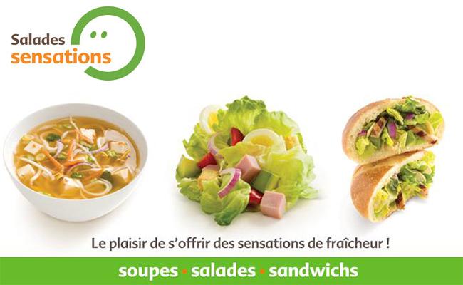 Salades Sensations Soupe, Salade Et Sandwich